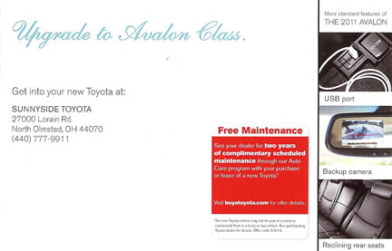 Toyota-Mailing-Offer-Panel