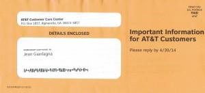 AT&T mailings 3-20b